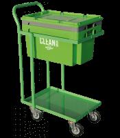 CLEAN BOX cu capac, coş de imsersie, cărucior